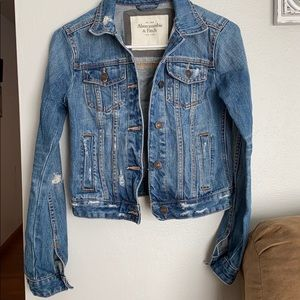 Abercrombie and Fitch distressed denim jacket